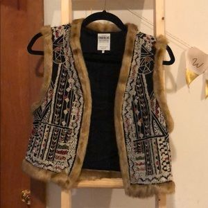 Zara embroidered vest